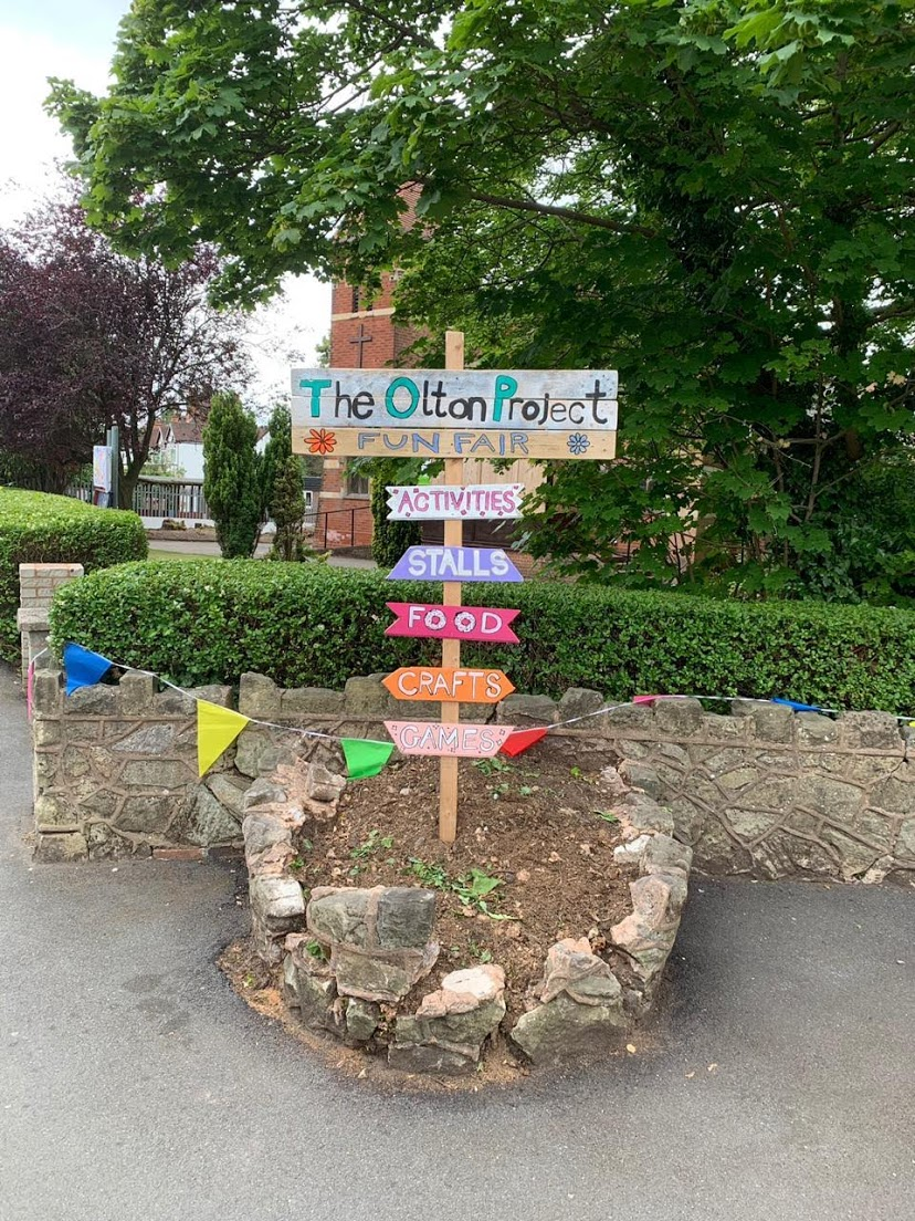 The sign and bunting are up for our Summer Fair