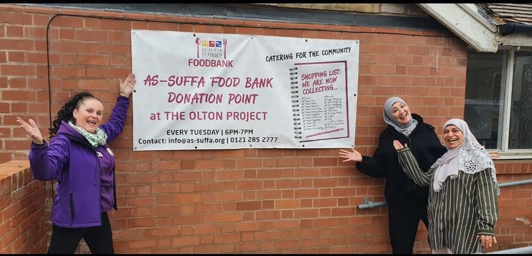 The As-Suffa Team collecting for the Food Bank